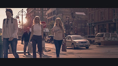 SUNSE.. (R*Wozniak) Tags: sunlight 16x9 50mm d750 streetportrait street women beautiful color cinematic anamorphic cinematography widescreen nikond750 nikon