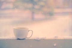 Winter's Arrival (miss.interpretations) Tags: snow winter endofautumn december cold chill snowflakes cozy coffee cocoa mug cup tea balcony outdoors snowy castlerock colorado canonm3 missinterpretations
