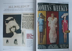 All Dolled Up in The Australian Women's Weekly (DeanReen) Tags: vintage barbie fashion queen wig tutorial handkerchief january 1966 5 1960s sassoon the australian womens weekly treasures made by hand reprint 2016 page 92 93 text people