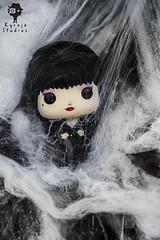 Elvira III (POP Hopping) Tags: elvira halloween pop funko vinyl macro photography webs mistress darkness toys