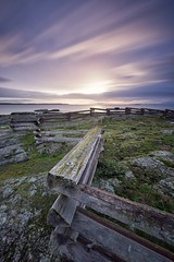 Cattle Point Loop (dharnan) Tags: fence british columbia bigstopper lee filters purple long exposure sunrise relaxed calm morning