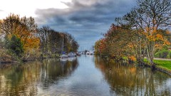Christchurch Contrasts (Nick Fewings 4.5 Million Views) Tags: colourful colour trees nature reflection boat landscape river flickr