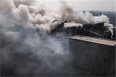 New Delhi : :Fire fighters trying to douse a fire which broke out in a four storey building ( godown that held garments for export & sports equipments) at Sadar Bazar market. Photo: Legend News (legend_news) Tags: new delhi fire fighters trying douse which broke out four storey building godown that held garments for export sports equipments sadar bazar market photo legend news