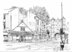 The corner of Gillygate and Bootham Bar, York