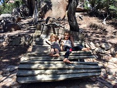 Wineglass Bay. The Smalls reclining on an impressively designed seat...