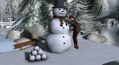 SL Christmas Expo Vendor Spotlight: Outside the Box! (satorimarat) Tags: secondlife slchristmasexpo christmas rfl acs cancer shopping outdoor decor winter snowman decorating