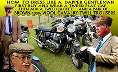 How To  Dress Dapper In Tweed Clothing  1 (80s Muslc Rocks) Tags: nz newzealand nelson northisland napier auckland ashburton australia tweed tweedjacketphotos tweedjacket trousers twill tweeds retro rotorua oldschool old older outdoor oldcar oldman menswear mens classic canon christchurch clothing coat cavalrytwill cavalry car auto australian kiwi kiwifashion kiwiana 1980s 1970s hastings houndstooth hamilton invercargill iconic carshow cavalrytwilltrousers fashion flatcap vintage vintagemetal veteran vintagecar vehicle rally race racing thetweedrun howtoweartweed howto dappergentleman dapper bike t100 triumph distinguishedgentlemansride uk britain british people focus photograph motorbike