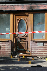 Attack On House With Industrial Firework Destroys Front Door (ashleystocks_photography) Tags: explosion industrialfirework attack gmp greatermanchesterpolice manchester