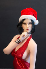 Phicen Christmas Preview (edwicks_toybox) Tags: 16scale christmas eveninggown femaleactionfigure mermaidgown phicen raksa santahat seamlessbody tencent verycool
