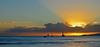 """Lightbulb Sun"" (jcc55883) Tags: kapiolanibeachpark sunset sky clouds horizon silhouette ocean pacificocean hawaii oahu kalakauaavenue waikiki queenssurf nikon nikond3200 d3200"