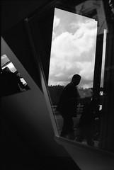 Mendocino (sizifo) Tags: california street leica blackandwhite bw usa reflection frames iso400 trix streetphotography mirrors highcontrast summicron 35mmfilm mendocino m6 filmphotography 50mmlens leicam summicronm leciam xtoldeveloper