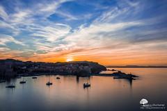 Fin de soire  Collioure (photosenvrac) Tags: mer port bleu ciel collioure nuage paysage coucherdesoleil thierryduchamp