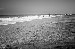 Seascape: Playa de las Salinas (Gonzalo Castn) Tags: ocean sea blackandwhite espaa blancoynegro beach mar andaluca spain playa almera cabodegata ocano nijar nikond5100