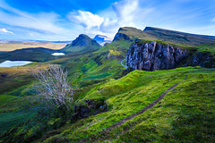 The Quiraing - Isle of Skye Lee Big Stopper Scottish Highlands (capturedcanvas.co.uk) Tags: blue chris trees sky mountain mountains tree green clouds canon lens bush captured lakes sunny smith canvas filter lee usm loch 1740 midges lochs manfrotto 6d quirang quiraing lseries quarang lilters