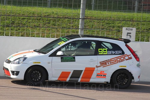 Myles Baker in Fiesta Racing at Rockingham, Sept 2015