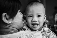 Smiles in the Shwedagon Pagoda, Yangon - Myanmar (ELIA MORA) Tags: baby children highway child yangon burma smiles monk persone monastery monks popa ritratti mandalay bagan bago luoghi birmania myanmarburma yangonregion