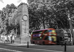 Cenotaph and bus (ricklisle) Tags: red england bus london cenotaph whitehall doubledecker