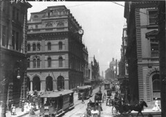 George Street from near Martin Place, then Moore Street, c. 1910 / by Sam Hood (State Library of New South Wales collection) Tags: statelibraryofnewsouthwales
