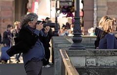 Master at work (JarHTC) Tags: street artist photographer professional fujifilm shooting yashica manualfocus 135mm xe2 ml135mm