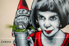 Zabou (dprezat) Tags: street urban paris art film painting movie stencil nikon tag graf montmartre spray peinture aerosol bombe d800 pochoir amliepoulain zabou nikond800