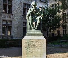 Statue Louis XI à Bourges. (Crilion43) Tags: réflex france tamron divers monuments bourges canon objectif statue 1200d châteaux buste socle