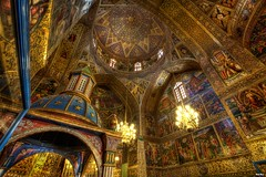 Isfahan, Vank cathedral, Interior (Calim*) Tags: church architecture golden iran cathedral interior hdr vank