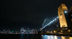 Sydney Harbour Bridge & City Skyline (Prasad Silva) Tags: city longexposure bridge skyline night canon point harbor sydney australia tokina milsons cityview eos70d snapsydney