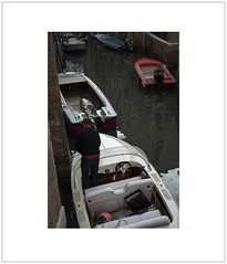 Mooring (Pictures from the Ghost Garden) Tags: venice light people urban color colour landscape boats nikon shadows canals dslr venezia sanmarco 18105mm d7100