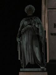 Statue on Jubilumssule at night, Stuttgart, Germany (Paul McClure DC) Tags: stuttgart germany deutschland aug2016 badenwrttemberg architecture sculpture historic