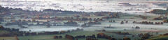 Morning Mist Panorama (Mukumbura) Tags: mist fog panorama dawn morning mendips somersetlevels autumn priddy somerset england rural farmland countryside landscape peaceful scenery layers moisture sunrise beauty gettyimages