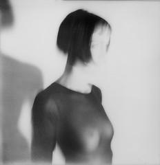 (Matteo-Palmieri) Tags: black white polaroid sx70 impossible project analof film matteo palmieri nude naked girl vanish shadow light