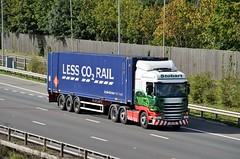 Eddie Stobart 'Emily Jane' (stavioni) Tags: eddie stobart truck traier lorry esl emily jane po64vnz h2031 tesco less co2 rail container scania r450