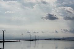 """Punta de la Banya, near ""Salines de la Trinitat"" - Delta de l'Ebre (agustiam) Tags: reflections ngc deltadelebre deltadelebro water clouds cloudsandwater skyandwater river ebro ebre postes landscape blue"