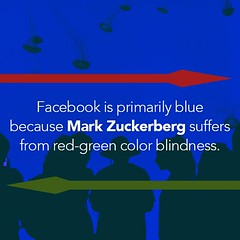 Did you know that Facebook is primarily blue because Mark Zuckerberg suffers from red-green color blindness? #TriviaTuesday #DYK #PrimalMgmtGroup (primalmanagementgroup) Tags: primal management group reviews careers jobs chesapeake va