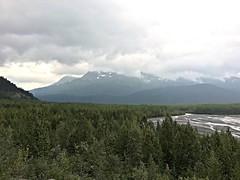 Kenai Fjords NP ~ Exit Glacier (karma (Karen)) Tags: kenaifjordsnp alaska exitglacier usparks glaciers glacierwater trees mountians clouds iphone
