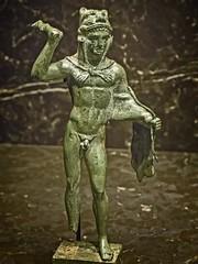 Etruscan Statuette of Heracles Italy 4th century BCE Bronze (mharrsch) Tags: etruscan statue bronze 4thcenturybce ancient nelsonatkins museum kansascity missouri mharrsch italy herakles heracles hercules myth