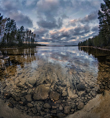 Lake (Kari Siren) Tags: lake clear water shore fall karijarvi jaala finland