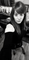 Ebenholz (Steph Angel) Tags: steph stephangel transvestite tranny trans girl feminine female femme gender makeup mascara portrait beauty hair longhair shoes shortskirt highheels heels