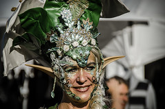 From the woods (Melissa Maples) Tags: ludwigsburg germany europe nikon d5100   nikkor afs 18200mm f3556g 18200mmf3556g vr venetianfestival venezianischemesse marktplatz mask costume woman green woodsprite