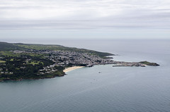 Approaching St Ives by air from the north east (John D F) Tags: stivesbay stives beach bay cornwall coast aerial aerialphotography aerialimage aerialphotograph aerialimagesuk aerialview droneview