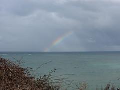IMG_5897 (dianangelah) Tags: normandie normandy france frankreich regenbogen arcenciel rainbow meer sea mer landschaft landscape wolken clouds cloud arromanches gold beach mulberryb mulberry
