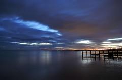 Bright Lights (hall1705) Tags: brightlights westsussex reflection rustington clouds longexposure sea seascape calm coast p340 nikon