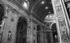 High Ceilings (noname_clark) Tags: italy rome vacation honeymoon vatican basilica blackandwhite architecture
