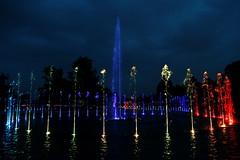 Colored Fountain (Strocchi) Tags: fontana fountain warsaw varavia polonia poland light luci colors colori water acqua canon eos6d 24105mm