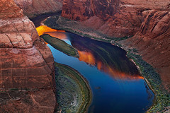 Colorado River, Arizona, USA (Dmitry P.) Tags: america arizona beautiful bend canyon cliff colorado colorful curve dawn dawning daybreak desert destination famous glen grand horse horseshoe landmark landscape meander morning nature north outdoors outlook overlook page plateau ravine red reflect reflection river rocks sandstone scenery scenic shoe south southwest sunrise tourism travel usa valley view water wilderness