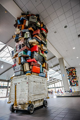_V1A4674.jpg (geekteach) Tags: sculpture thanksgiving luggage sacramentoairport sacramento