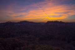 Sunset on Chimney Top Rock