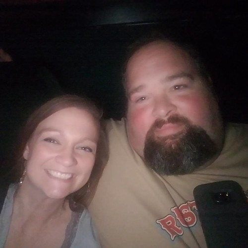 Fuzzy movie theater date night picture! 😂😍 #theaccountant #datenight