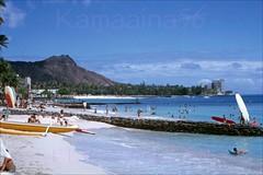 Kuhio Beach Diamond Head 1963 (Kamaaina56) Tags: 1960s waikiki hawaii beach slide