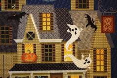 October 30 2016, Sunday (interchangeableparts) Tags: projectworkbench mfboo halloweenstitching kirkbradley hauntedhouse needlepoint